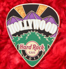 Hard Rock Cafe Pin HOLLYWOOD Postcard GUITAR PICK Serie California mountain logo