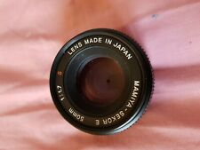 objectif mamiya -sekor 1:1.7 f=50mm