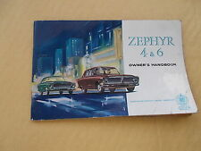 Zephyr 4 & 6: Owner's Handbook Published by Ford Motor Co. Ltd (1962) Softcover