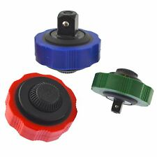 """Palm pulgar rueda trinquetes Llave de Cubo Adaptador 3pc Set 1/4"""" 3/8"""" y 1/2"""" Dri"""