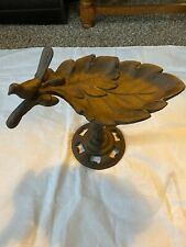 Bird Feeder Cast iron Leaf with cast iron post 10 Inches Tall 11 Inches Long