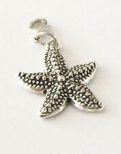 LOVELY SILVER  STAR FISH   CLIP ON CHARM FOR BRACELET -TIBETIAN SILVER - NEW