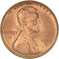 1950 S Lincoln Wheat Cent BU Penny US Coin
