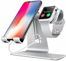 2 in 1 Phone Tablet Stand Holder Charging Dock Station for iWatch iPhone iPad