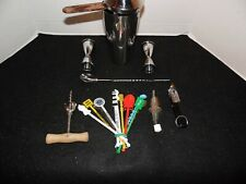 Bartender Cocktail Bar Tool Set Stainless Steel Large Shaker Plus Accessories