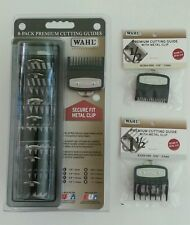 Wahl Professional 8 Pack Premium Hair Clipper Cutting Guide Set Caddy 1/16 1 1/2
