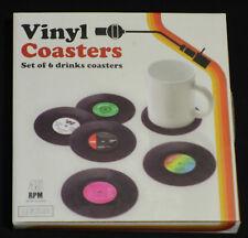 Spinning Hat SH01328 Schallplatten Untersetzer 6-er Set Bierdeckel Retro