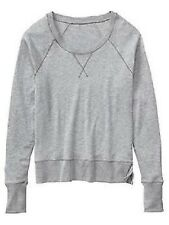 New Athleta No Rush Crew Sweatshirt -Gray Grey Women's sweater SMALL Nwt