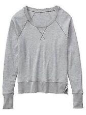 Athleta No Rush Crew Charcoal Grey Women's sweater Size SMALL