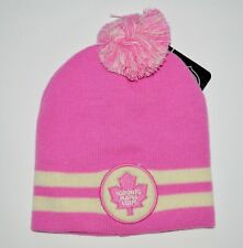 KLOZ TORONTO MAPLE LEAFS BREAST CANCER NHL LICENSED TOQUE - SALE