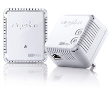 devolo dLAN 500 Wi-Fi Powerline Starter Kit 2 x PLC Homeplug Adapter, 1 x LAN -
