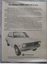 1970 Datsun 1200 Original advert