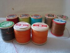 9  Vintage Reels of  Thread  Mix Colours and makes