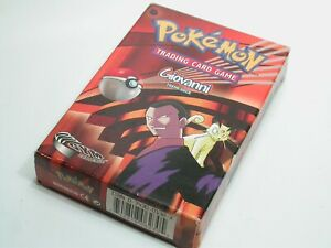 Giovanni Gym Challenge Theme Deck Box Set Pokemon Trading Card Game