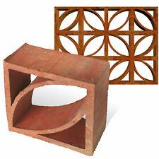 50 Formziegel Deko Mondial - Terrakotta Ornament Mauerziegel Screen Breeze Block