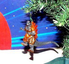 "GODZILLA CUSTOM ORANGE GODZILLA 3"" CHRISTMAS ORNAMENT MONSTER KAIJU"