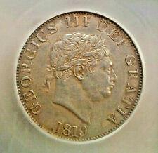 Fantastic Great Britain 1819 George III silver half crown ANACS certified