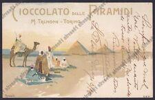 TALMONE CIOCCOLATO delle PIRAMIDI TORINO 05 PUBBLICITARIA 1900 illustr. ROSSOTTI