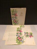 Vintage Sunshine Notes Floral ~Post-a-Note~24 Count Cards No Seals