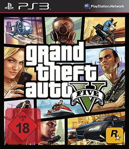 Grand Theft Auto V Gta 5 Playstation 3 PS3 gebraucht OVP Karte Und Anleitung