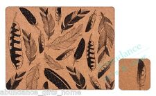 'Feathers' Hardboard Cork Placemats & Coasters Set - Dine by Ladelle *NEW*