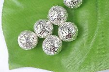 20pcs Silver Plated Spacer Loose beads charm findings accessories 10MM JK0940