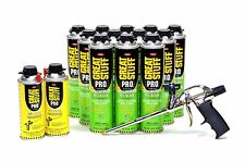 Dow GREAT STUFF PRO Pestblock Foam Kit 12 20 oz cans w/ Foam Gun and Gun Cleaner