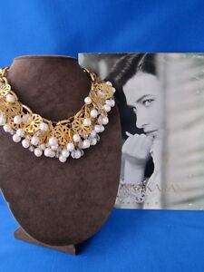 "Magnificent Vintage 1988 Robert Lee Morris /Donna Karan ""Daisy Swan "" Necklace"