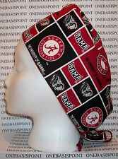 Surgical Scrub hat Cap Made w University Of Alabama Crimson Tide fabric Nurse Er