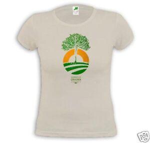 Official OBAMA TREE LOGO Ladies T-shirt - Large