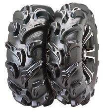 ITP Mega Mayhem 27 Inch Mud Tire set (4 tires) ATV UTV 27-9-12 and 27-11-12