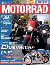 M9921 + MOTO GUZZI V 11 Sport im Vergleich + MOTORRAD 21/1999