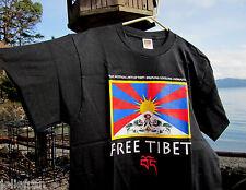 100% PRESHRUNK HEAVY COTTON FREE SAVE TIBET TIBETAN BUDDHIST TEE T SHIRT MEDIUM