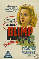 The life & death of colonel Blimp vintage movie poster
