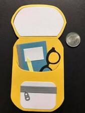 1 School Backpack Premade PAPER Die Cuts / Scrapbook & Card Making