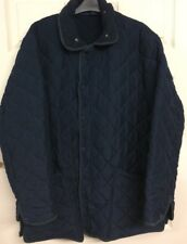 FERAUD Blue Mens Quilted Padded Fleece Lined Outdoor Jacket Size M ITALY