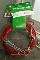 Pets At Home 9m Tie Out Cable Shock Absorbin - Brand New