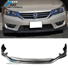 FOR 13-15 HONDA ACCORD 4DR SEDAN JDM MODULO STYLE FRONT BUMPER LIP SPOILER PP