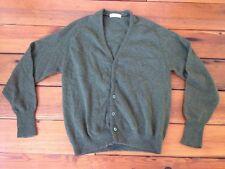 "Vintage 90s Grunge Fuzzy Lambs Wool Button Up Cardigan Grandpa Sweater M 41"""