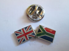 South Africa & Uk Friendship Enamel Metal Lapel Pin  -24 x 8mm   -  L070