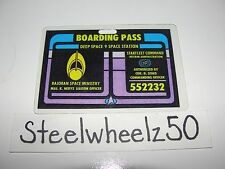 Laminated Star Trek Deep Space 9 Major Kira Nerys Boarding Pass Benjamin Sisko