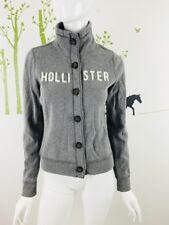 Hollister Womens Size Medium Long Sleeve Button Sweater Logo Front Cotton Blend