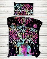 Indian Mandala Elephant Tree Of Life Duvet Doona Cover Quilt Cover Bedding Set