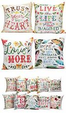 Artsy Poetic Quote Floral Quotes Pillow Boho Bohemian Accent Throw Home Decor