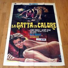 LA GATTA IN CALORE manifesto poster Eva Czemerys Silvano Tranquilli Fontane 1972