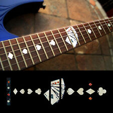 Fret Markers Inlay Sticker Decal For Guitar Neck - Playing Card - WP