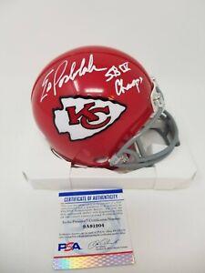 Ed Podolak Signed Kansas City Chiefs Mini Helmet w/SB IV Champs - PSA ITP