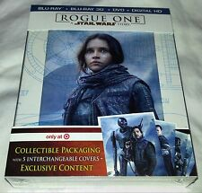 New Star Wars Rogue One 3D+2D Blu-ray DVD DC Target Exclusive + Bonus Content