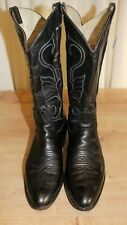 Bottes boots cowboy western LARRY MAHAN vintage P43,5 noir made in Texas