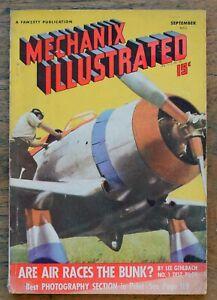 OLD MAGAZINE Mechanix Illustrated September 1939